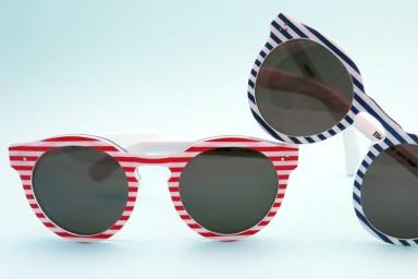 Illesteva's limited edition Leonard II 4th of July sunglasses.