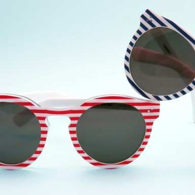 Illesteva's limited edition Leonard II 4th of July sunglasses.