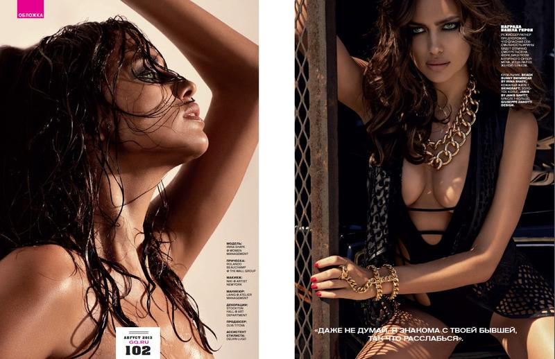 Irina Shayk by David Roemer for GQ Russia August 2013