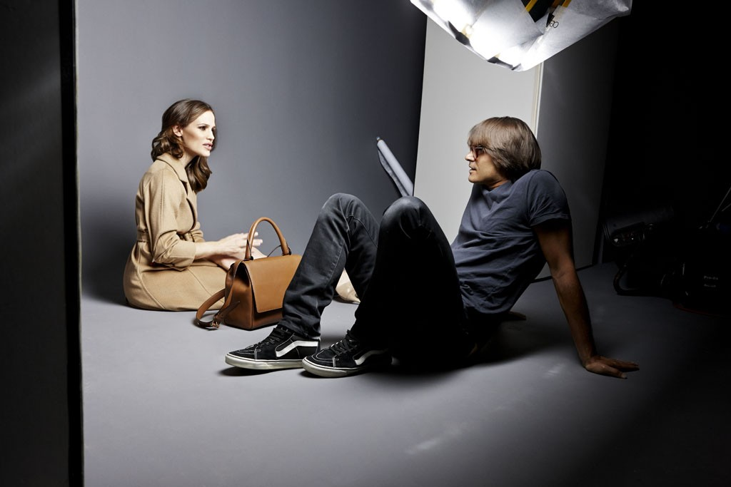 Jennifer Garner with Mario Sorrenti at the shoot for the Max Mara campaign. Photo by Photo by Daniel Akselrad