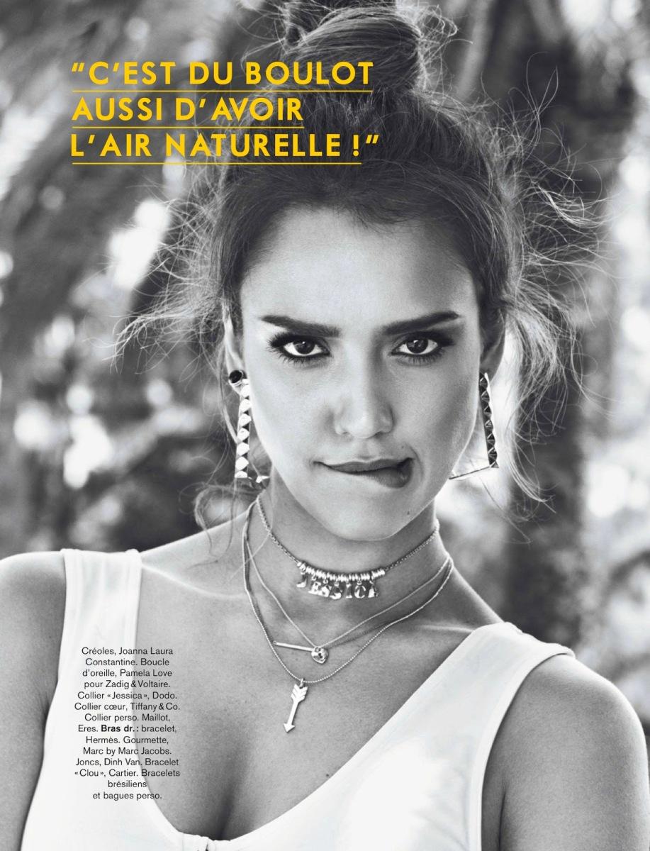 Jessica Alba By Jason Kim For Glamour France August 2013