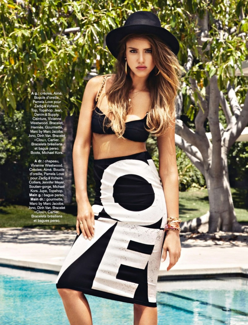 Jessica Alba By Jason Kim For Glamour France August 2013