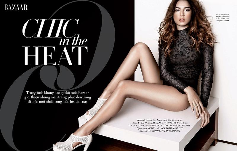 Jessica Gomes by An Le for Harper's Bazaar Vietnam June 2013