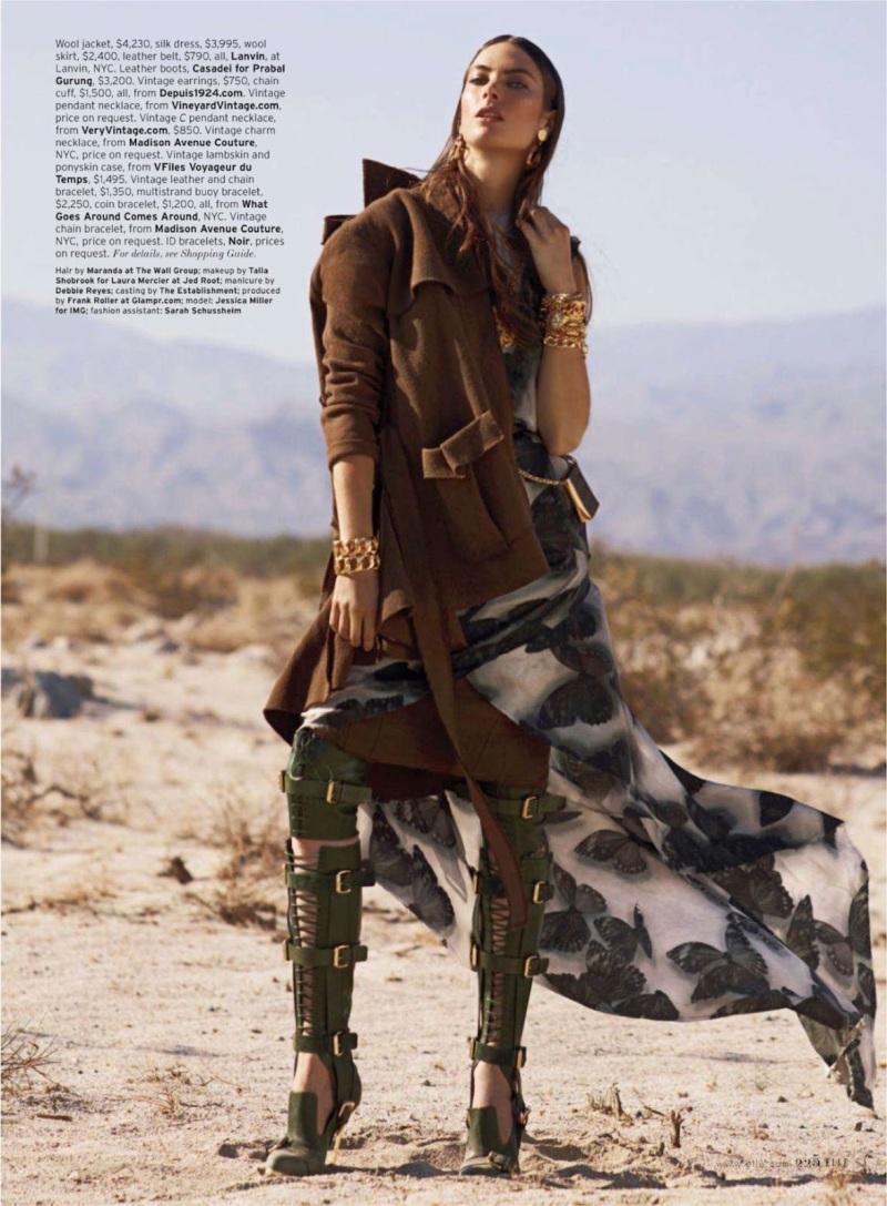 Jessica Miller By Thomas Whiteside For Elle US August 2013