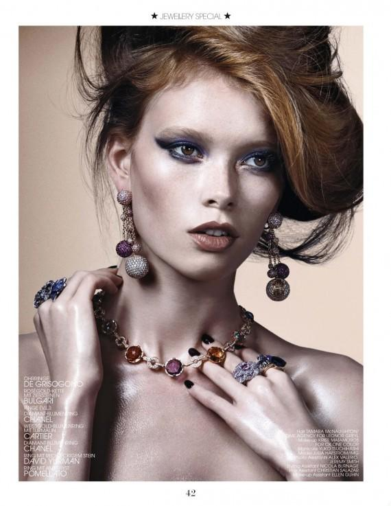 Julia Hafstrom by Christian Ferretti for Interview Germany August 2013