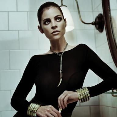 Julia Restoin Roitfeld for Eddie Borgo Fall 2013 Ad Campaign