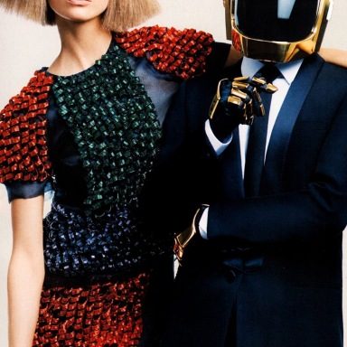 Karlie Kloss & Daft Punk by Craig McDean for Vogue US August 2013