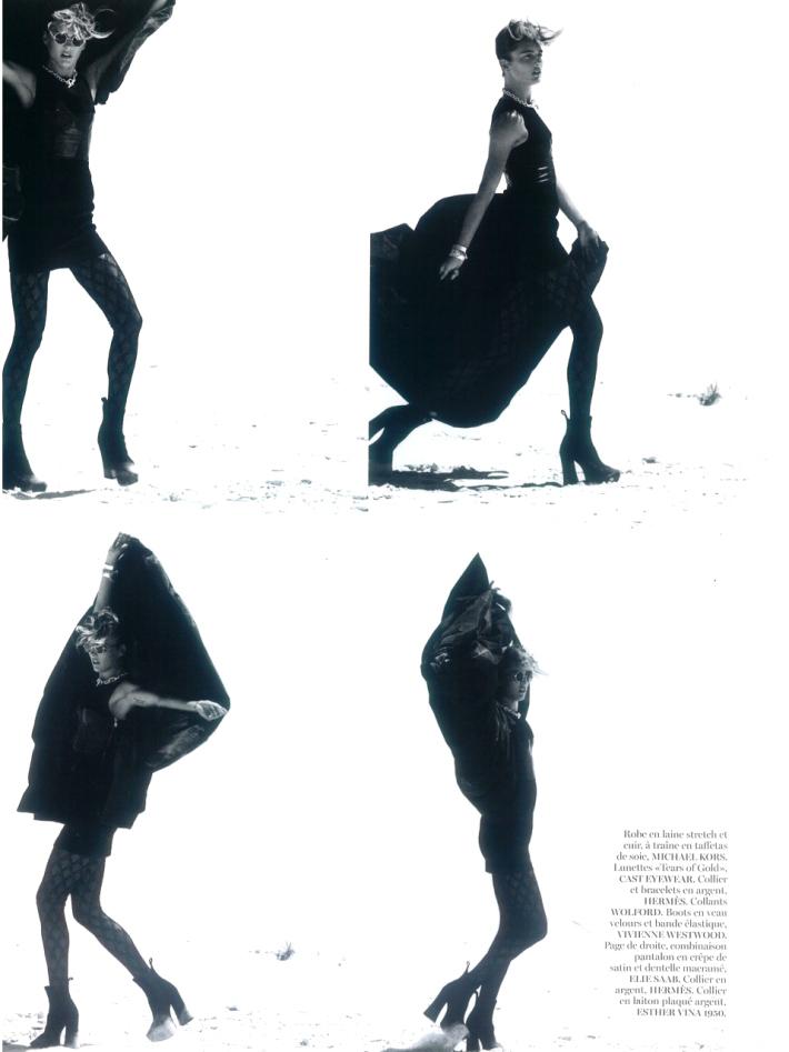 Karmen Pedaru by Gilles Bensimon for Vogue Paris August 2013