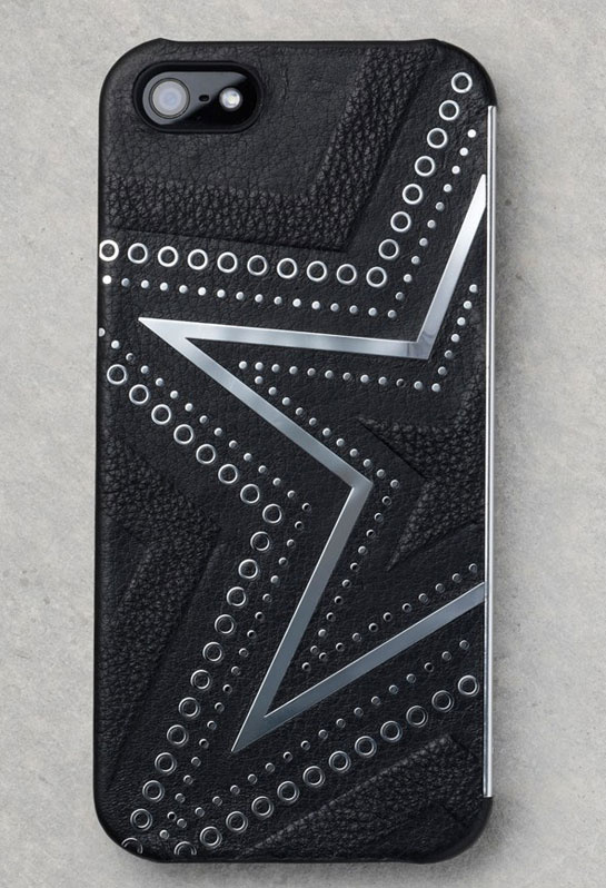 Leather and metal-detail iPhone cover, Kate Moss x Carphone Warehouse, €30