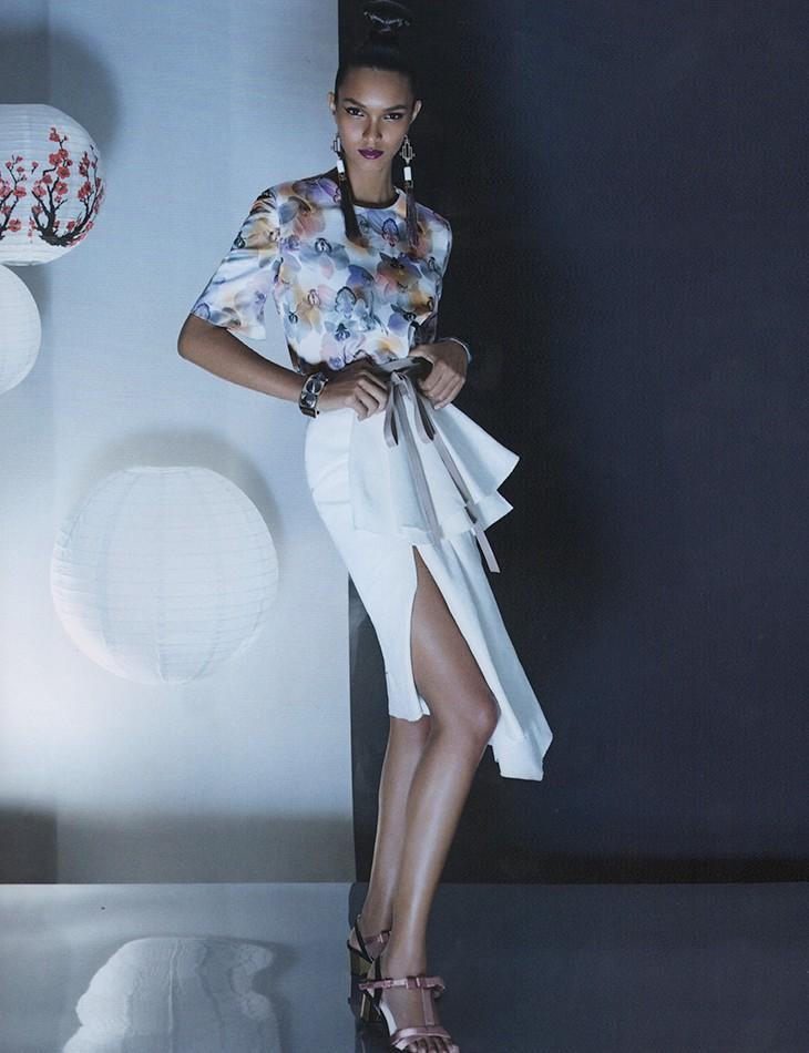 Lais Ribeiro by Karine Basilio for Vogue Brasil July 2013