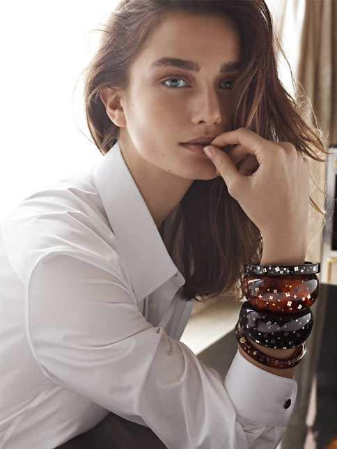 Andreea Diaconu for Louis Vuitton Fashion Jewelry Fall/Winter 2013/14
