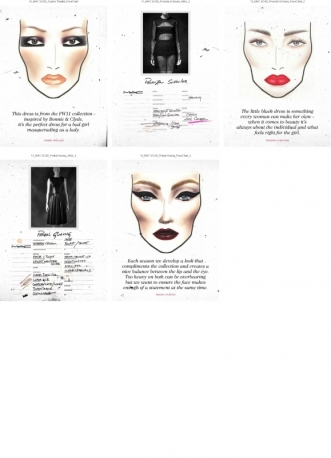 MAC COSMETICS MAKEUP LOOK for THE LITTLE BLACK DRESS exhibition