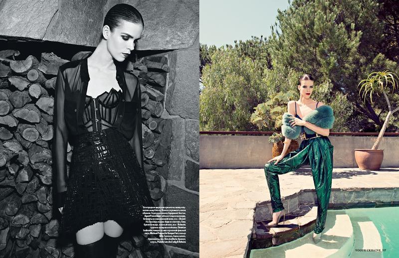Meghan Collison by Olivier Zahm for Vogue Ukraine August 2013