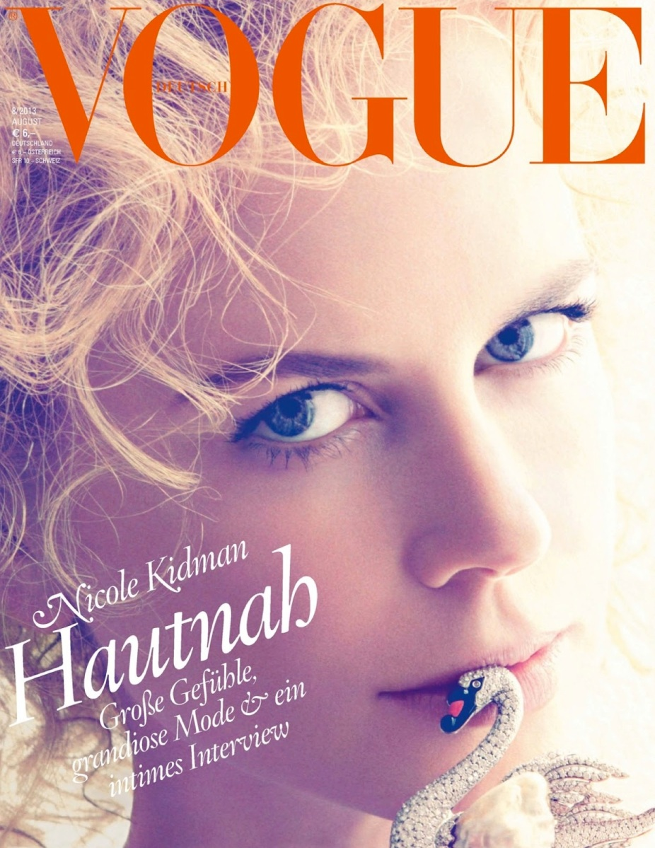 Nicole Kidman By Camilla Akrans For Vogue Germany August 2013
