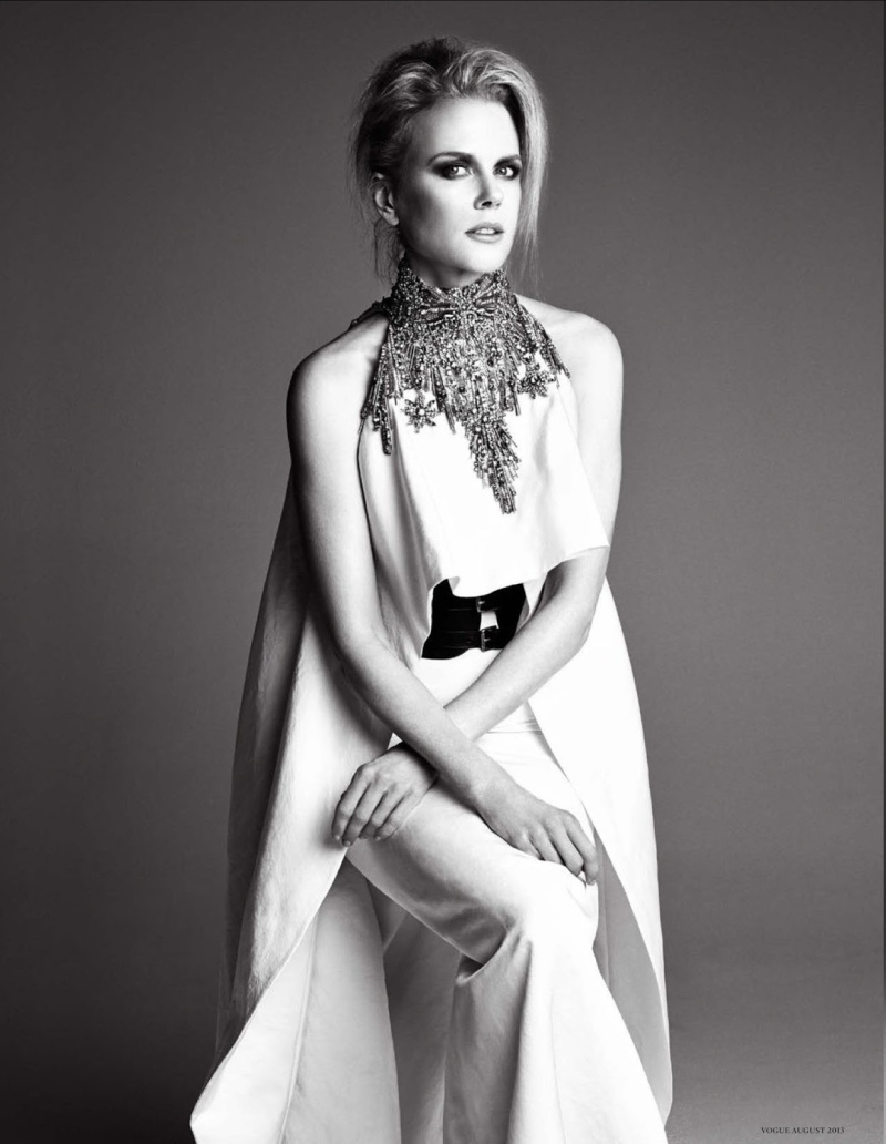 Nicole Kidman by Patrick Demarchelier for Vogue Germany August 2013