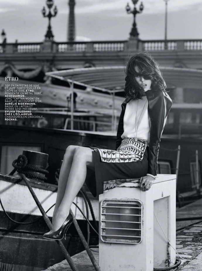 Ruby Aldridge by Taki Bibelas  for L'Officiel August 2013