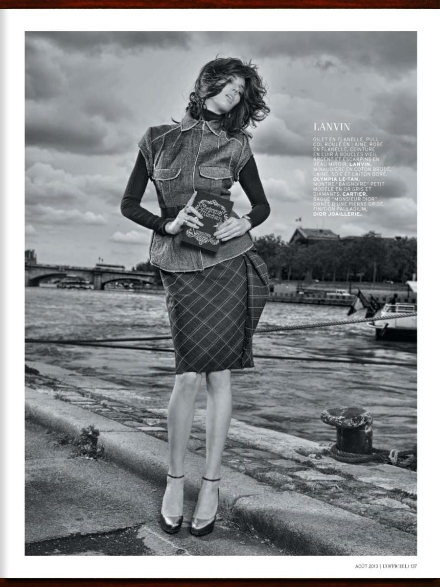 Ruby Aldridge by Taki Bibelas for L'Officiel August 2013
