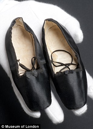 Slippers belonging to Princess Beatrice, who was born in 1857