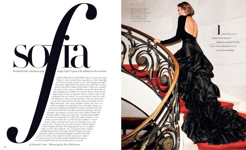Sofia Vergara by Terry Richardson for Harper's Bazaar US August 2013