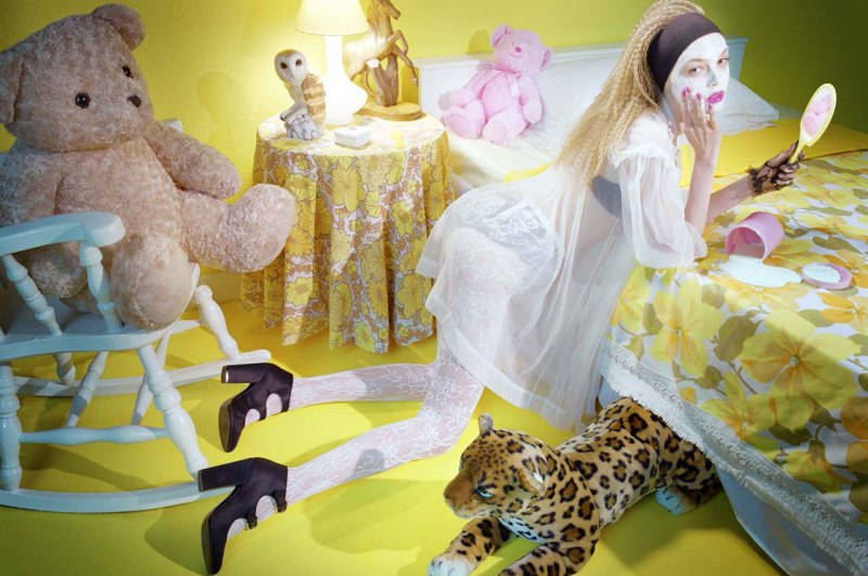 The Last Range of Colours #2, 2008 Chromogenic print First published in Vogue Italia, September 2007 © 2013 Miles Aldridge  Photo courtesy of Rizzoli International