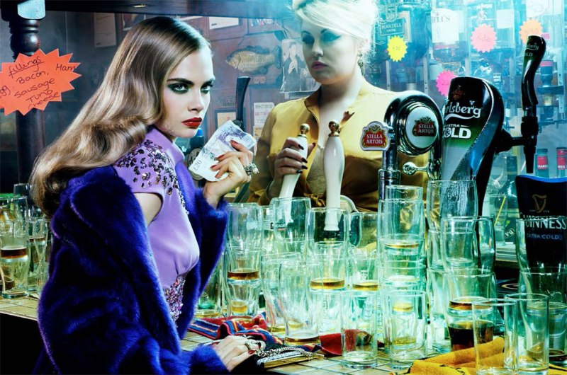 The Red Lion, 2012 Chromogenic print First published on Numeéro, August 2012 © 2013 Miles Aldridge  Photo courtesy of Rizzoli Internationa