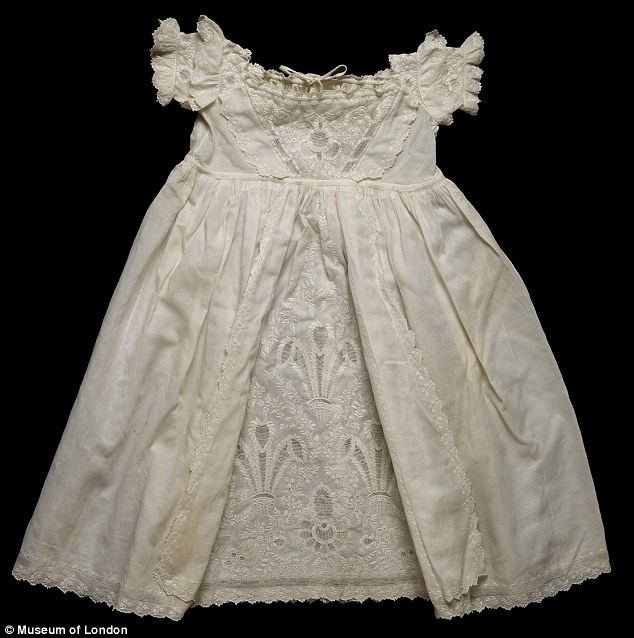 This cream cotton robe with embroidered royal feathers was worn by Prince Albert Edward, later Edward VII, around 1841