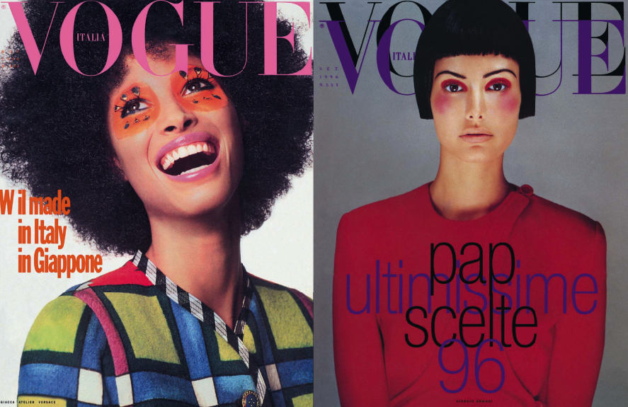 Top Beauty Covers by Steven Meisel for Vogue Italia