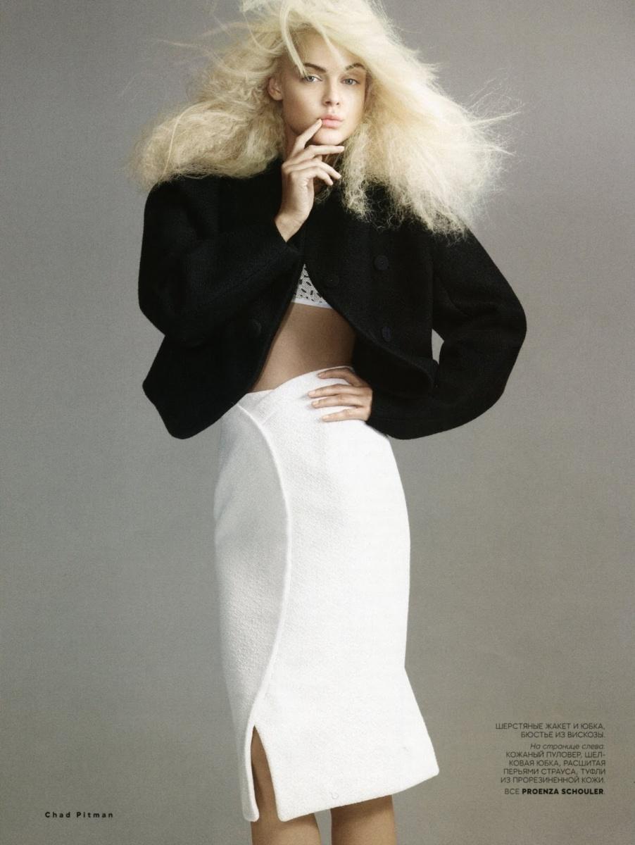 Viktoriya Sasonkina by Chad Pitman for Vogue Russia August 2013