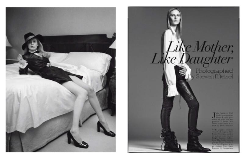 """""""Like Mother, Like Daughter"""" by Steven Meisel for Vogue Italia September 2013"""