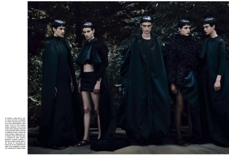 """The HC'S Vagaries"" by  Paolo Roversi for Vogue Italia September 2013 Haute Couture Supplement"