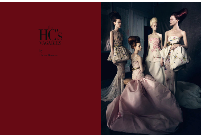 """""""The HC'S Vagaries"""" by Paolo Roversi for Vogue Italia September 2013 Haute Couture Supplement"""