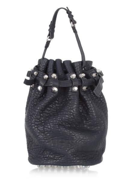 Alexander Wang Diego Textured-Leather Shoulder Bag, $875