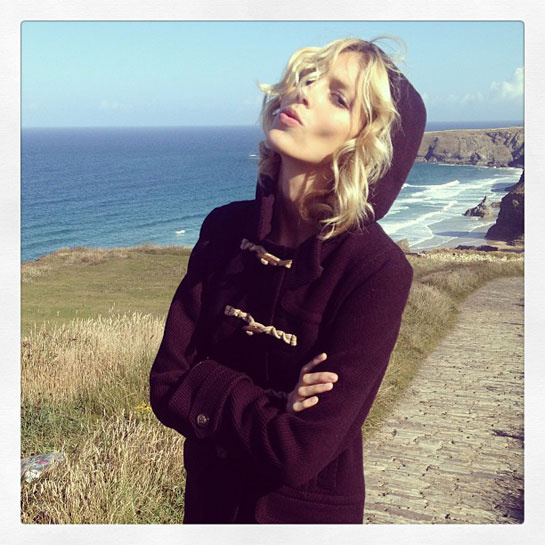 Anja Rubik opted for the fresh air and calm of Cornwall