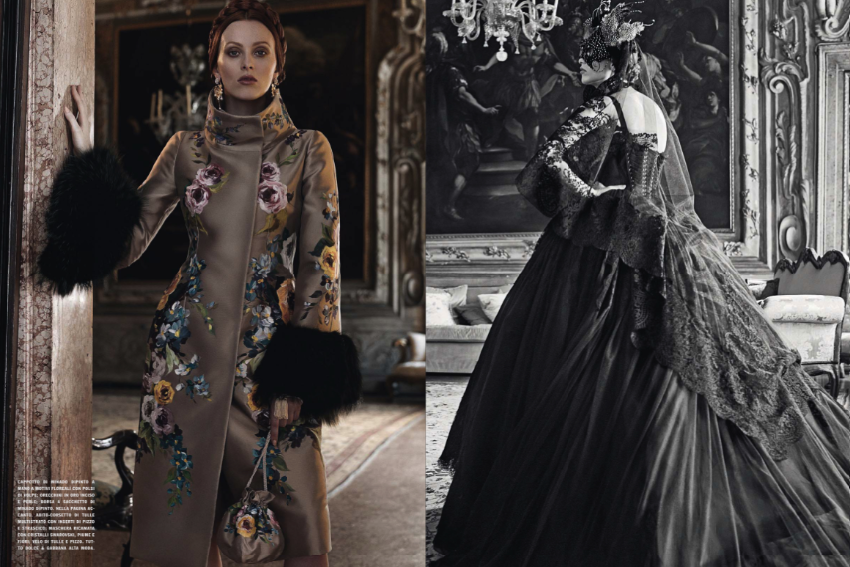 Ava Smith & Karen Elson by Craig McDean for Vogue Italia September 2013 Haute Couture Supplement