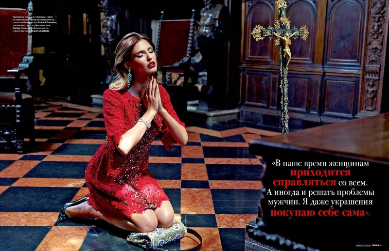 Bianca Balti by Pierpaolo Ferrari for Tatler Russia September 2013
