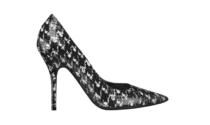 Christian Dior Snakeskin houndstooth heels, €650.
