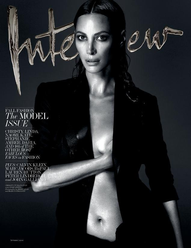Christy Turlington by Mert Alas and Marcus Piggott for Interview September 2013