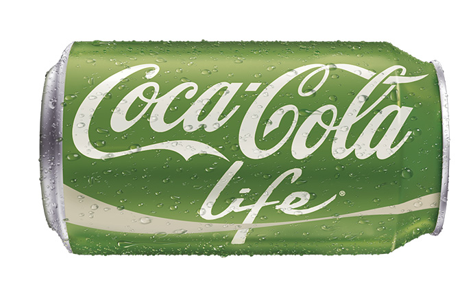 Coca-Cola Life is the first soda from the Coca-Cola family that is naturally sweetened with sugar and Stevia