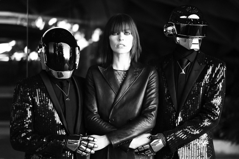Daft Punk & Milla Jovovich by Mathieu César for CR Fashion Book Fall/Winter 2013.14