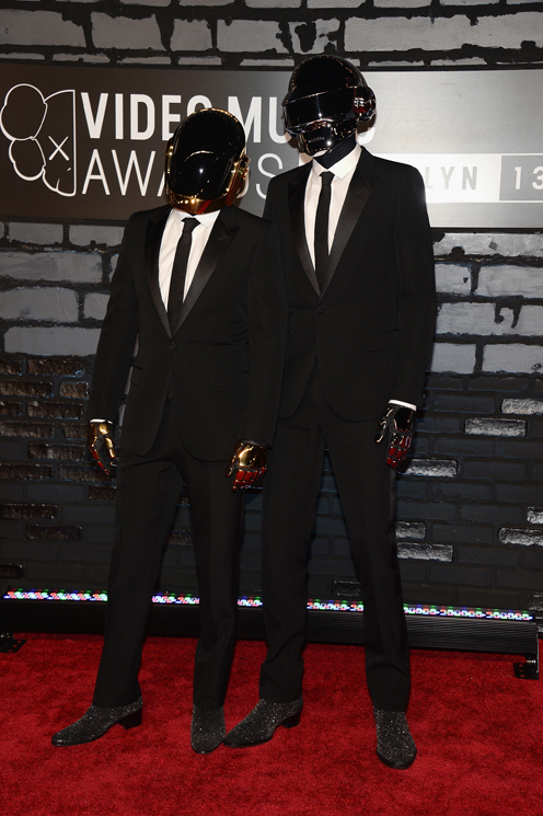 Daft Punk attends the 2013 MTV Video Music Awards at the Barclays Center on August 25, 2013 in the Brooklyn borough of New York City.  (Photo by Jamie McCarthy/Getty Images for MTV)