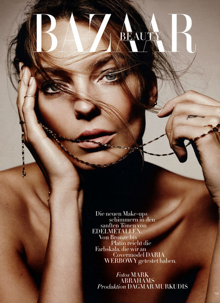 Daria Werbowy By Mark Abrahams For Harper's Bazaar Germany September 2013Daria Werbowy By Mark Abrahams For Harper's Bazaar Germany September 2013