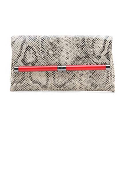 Diane von Furstenberg 440 Envelope Python Clutch, $225