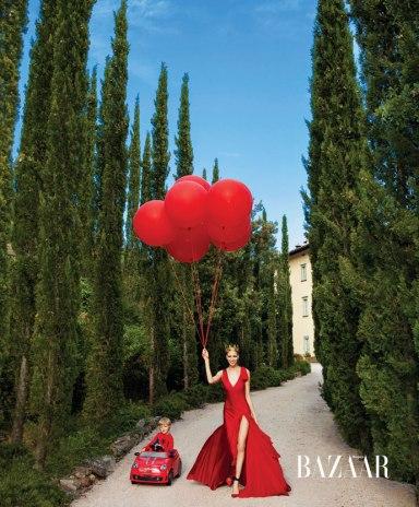 Elena Perminova by Christopher Sturman for Harper's Bazaar US September 2013