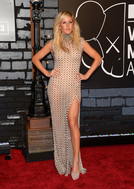 Ellie Goulding  attends the 2013 MTV Video Music Awards at the Barclays Center on August 25, 2013 in the Brooklyn borough of New York City.  (Photo by Jamie McCarthy/Getty Images for MTV)
