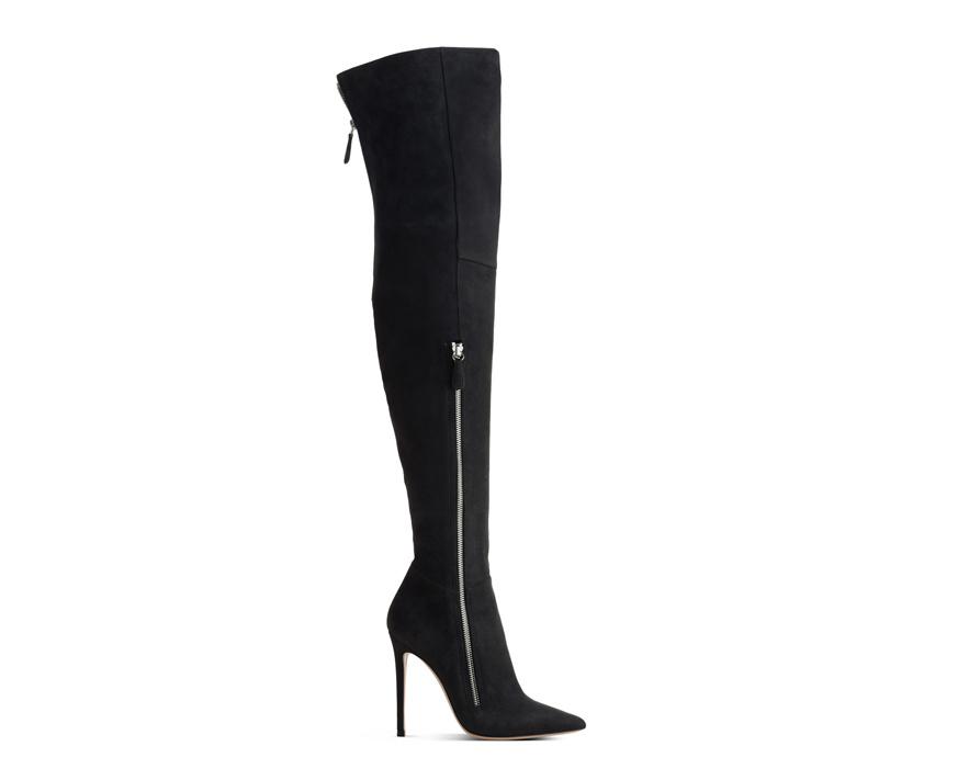Gianvito Rossi Velour calfskin thigh boots, €1190