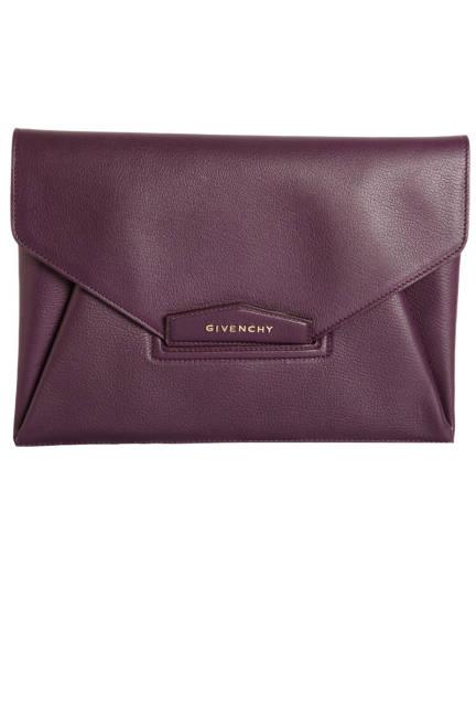 Givenchy Antigona Leather Envelope Clutch, $1,240