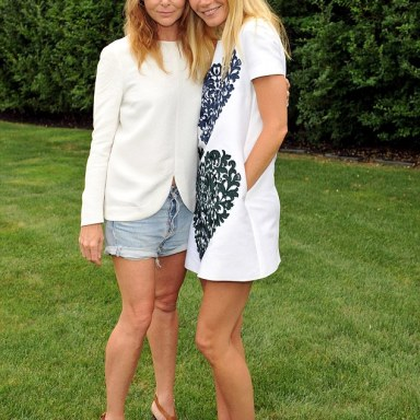 Gwyneth and close friend Stella McCartney hosted a garden party to celebrate their Goop collaboration in Amagansett, New York, on Friday