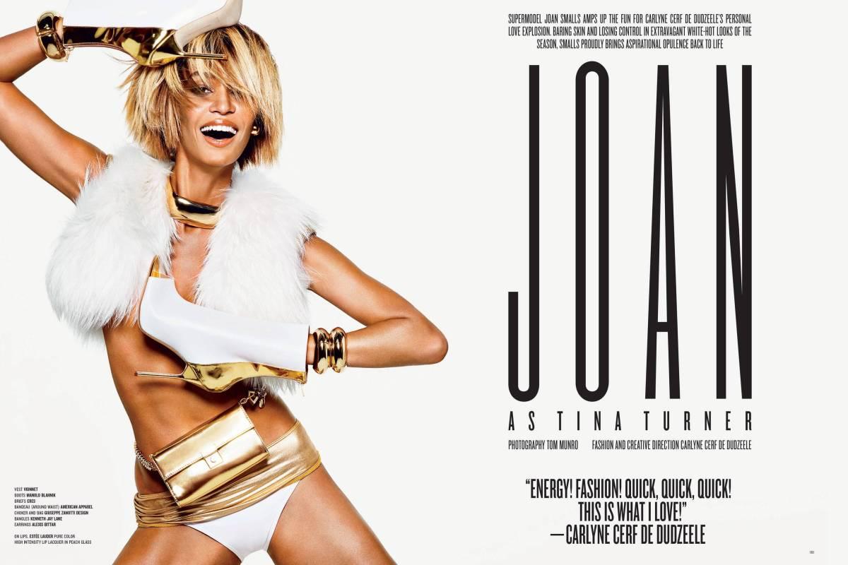 Joan Smalls as Tina Turner by Tom Munro for V #85 Fall 2013