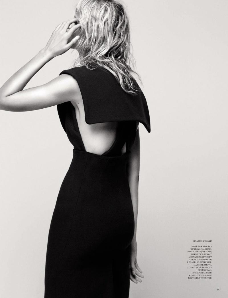 Karolina Kurkova by David Roemer for Harper's Bazaar Russia September 2013 1