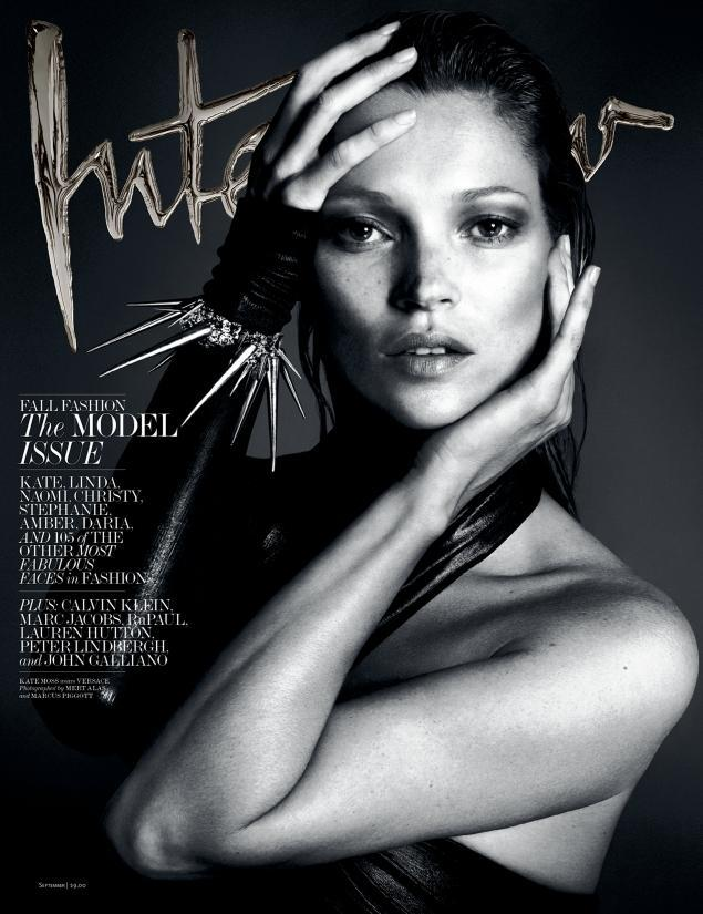 Kate Moss by Mert Alas and Marcus Piggott for Interview September 2013